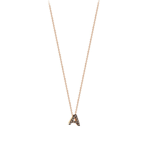 A Cubic Small Size Necklace - Champagne Diamond