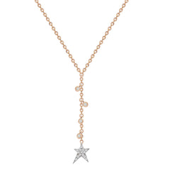 Struck Star Lariat Necklace