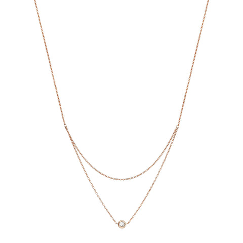 Beads Single solitaires 2 chain necklace