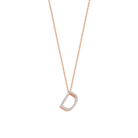 D Cubic Big Size Necklace - White Diamond