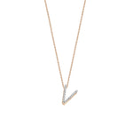 Letter Cubic Big Size Necklace - White Diamond