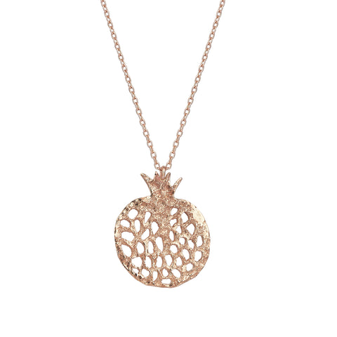 Pomegranate Cutout Rose Gold Medium Necklace