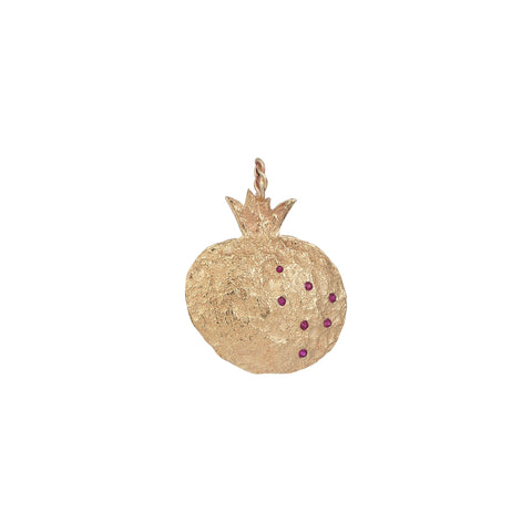 Pomegranate Ruby Yellow Gold large Pendant