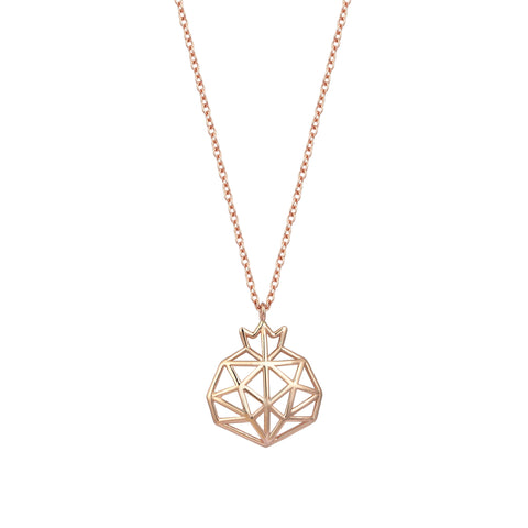 Pomegranate Cutout Rose Gold Small Necklace