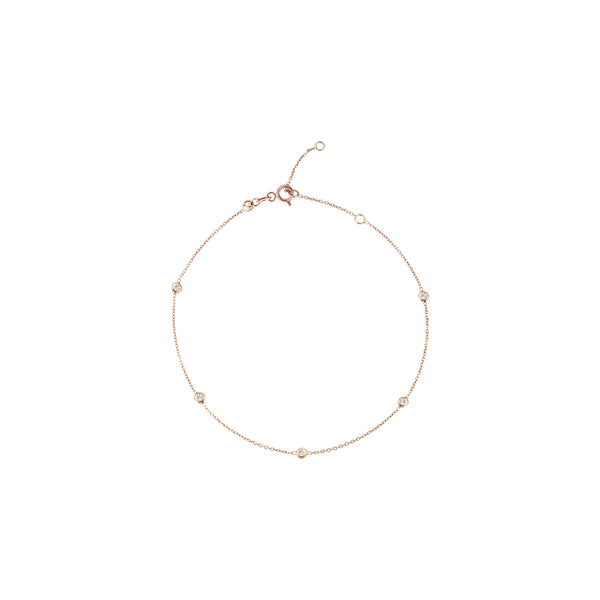 5 Solitaires Anklet