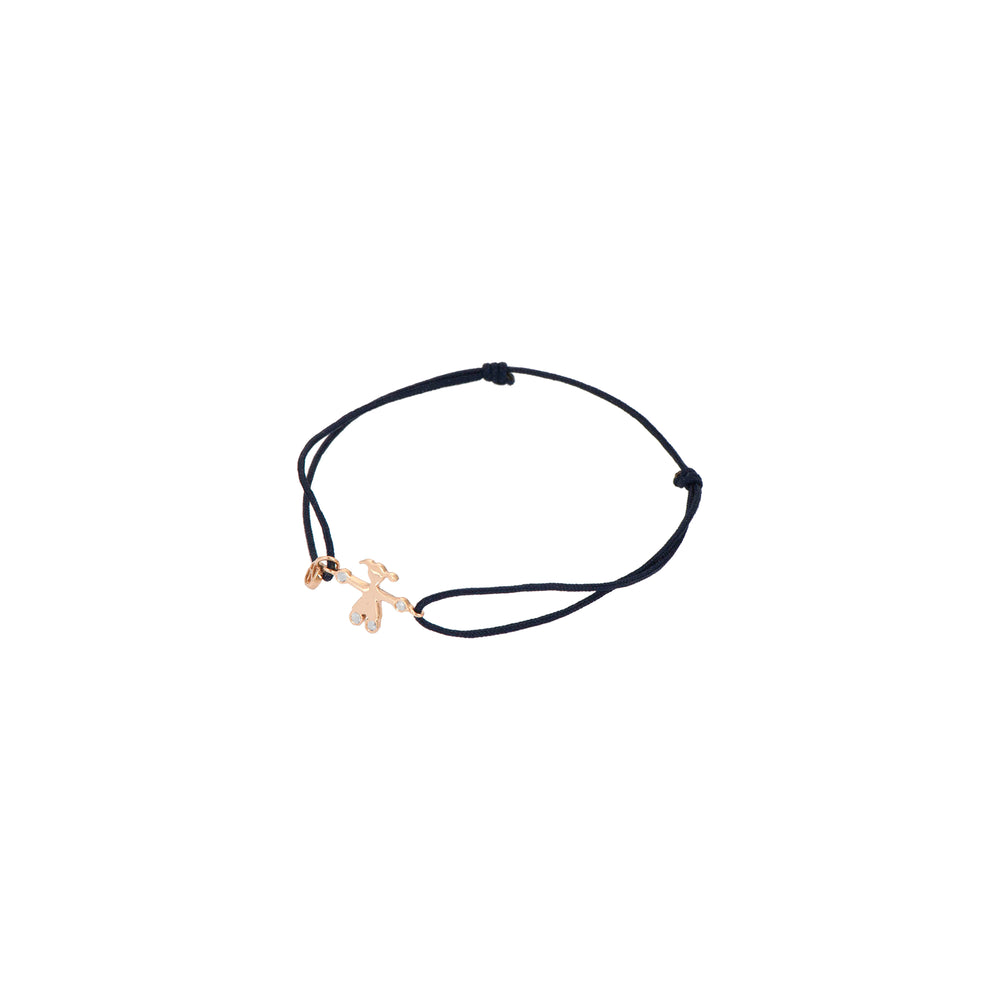 Baby Girl Cord Bracelet - White Diamond