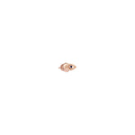 Ball Evil Eye Earring (Single) - Sapphire