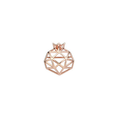 Pomegranate Cutout Rose Gold Earring (Single)