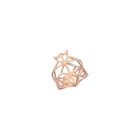 Pomegranate Cutout Rose Gold Ring