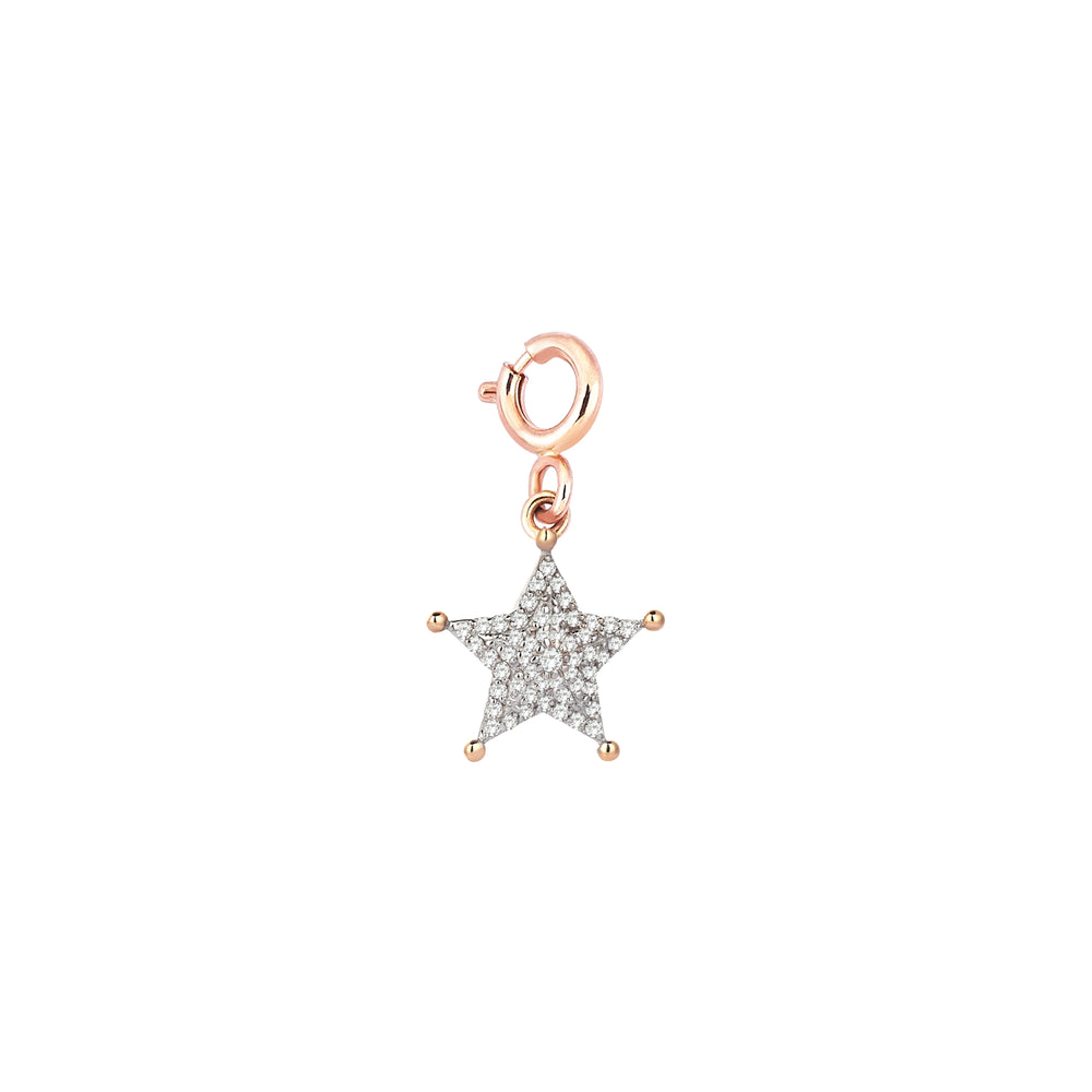 Sheriff Star Charm - White Diamond