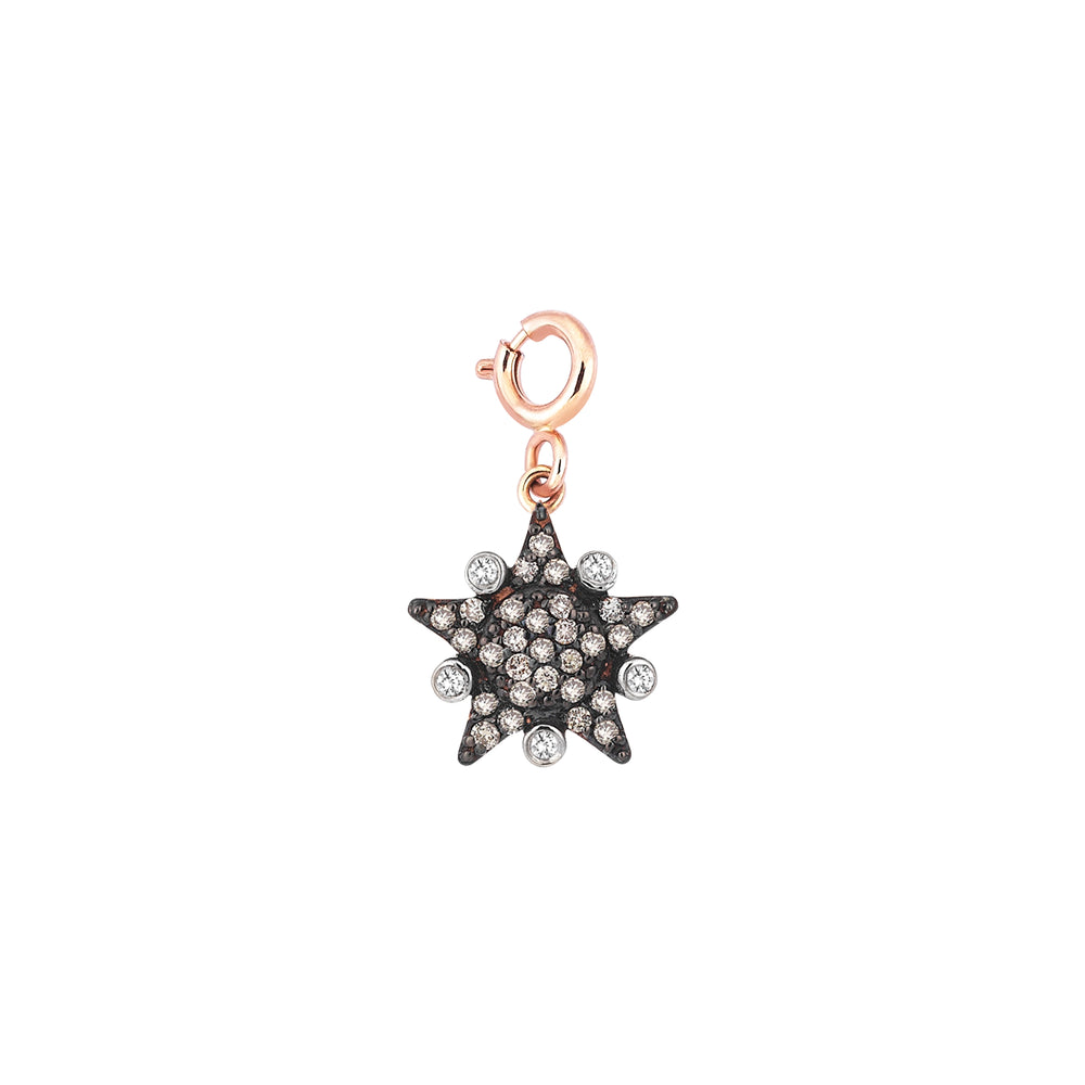 Eclectic Star Charm - Champagne Diamond
