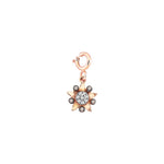 Eclectic Star Circle Charm - Champagne Diamond
