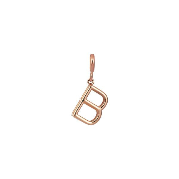 Large Initials Cube Charm - Gold