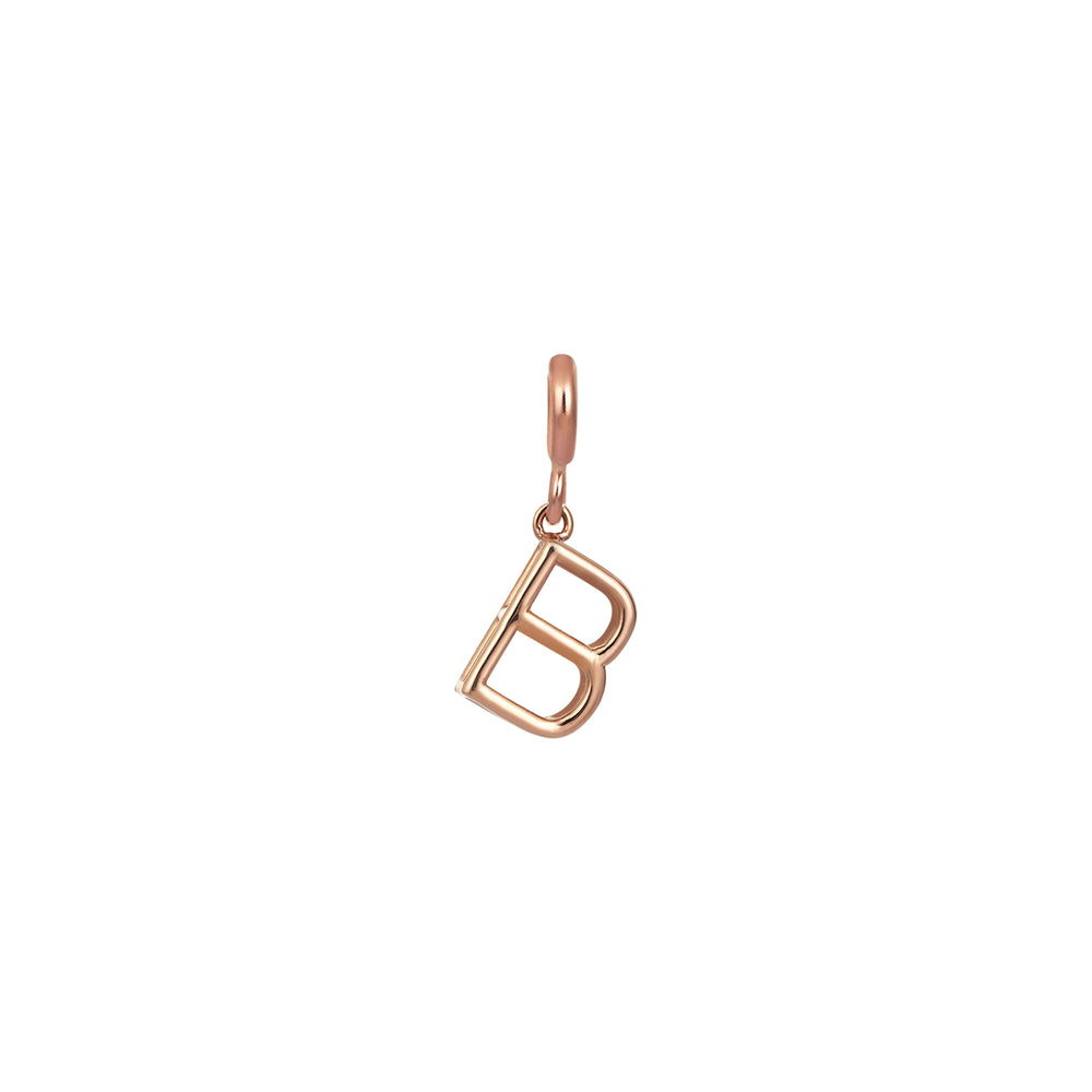 Small Initials Cube Charm - Gold
