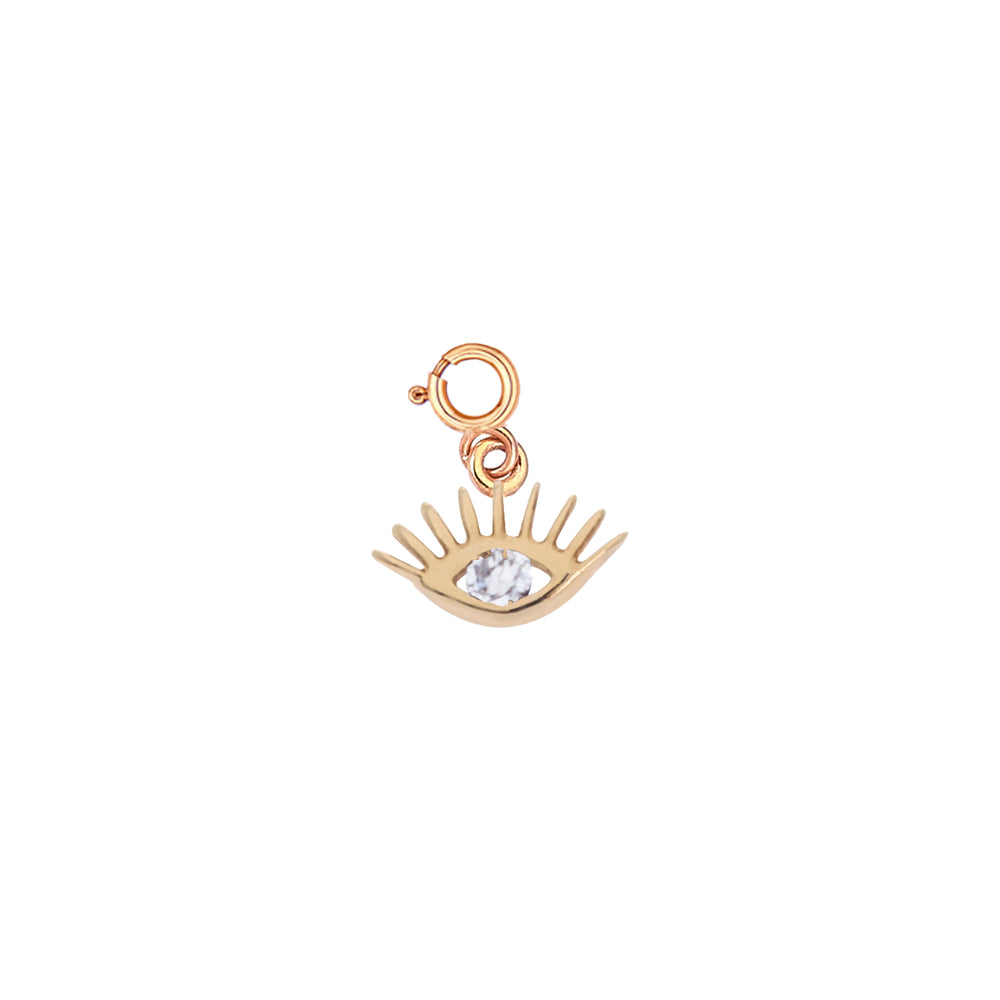 Evil Eye Charm - White Diamond