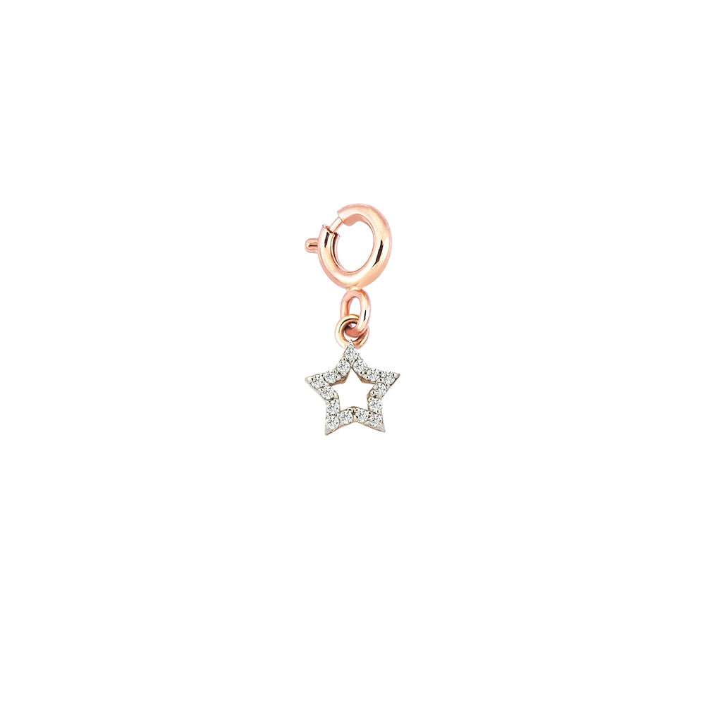 Doodle Star charm - White Diamond