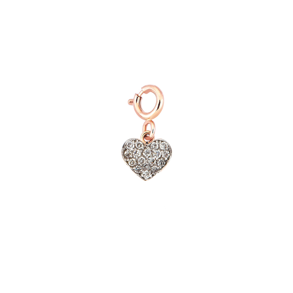 Bidik Heart Charm - White Diamond