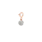 Bidik Circle Charm - White Diamond