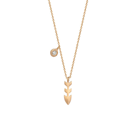Solitaire Arrowtip Necklace