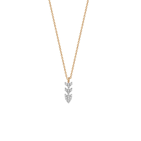 Pave Dart Necklace