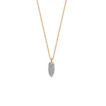Mini Pave Arrowhead Necklace - White Diamond