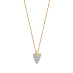 Pave Arrowhead Necklace - White Diamond