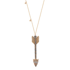 Xena Arrow 3 Solitaire Necklace