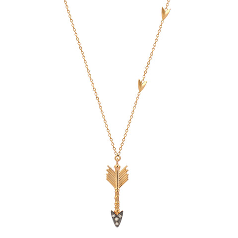 Triplet Arrow Necklace