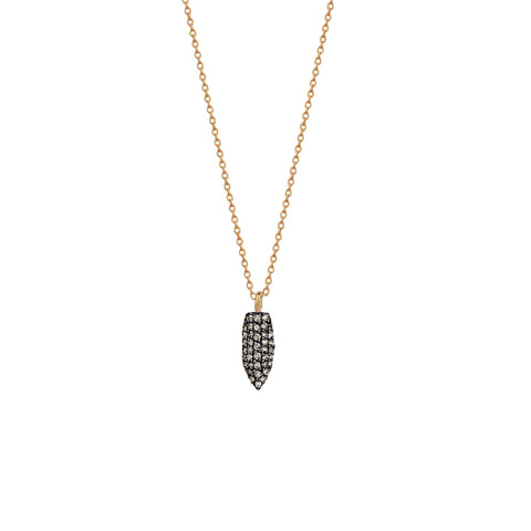 Mini Pave Arrowhead Necklace