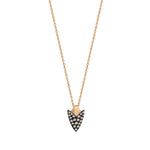 Pave Arrowhead Necklace - Champagne Diamond
