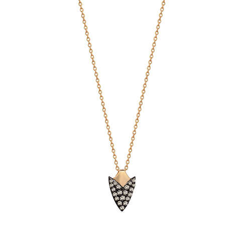 Pave Arrowhead Necklace