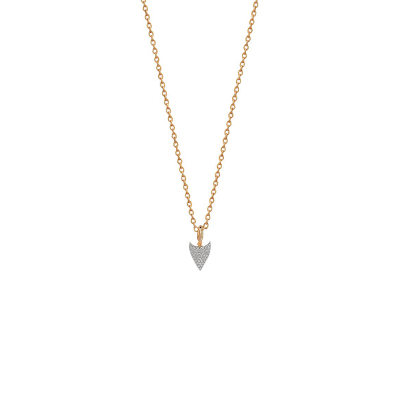 Mini Pave Arrowtip Necklace - White Diamond