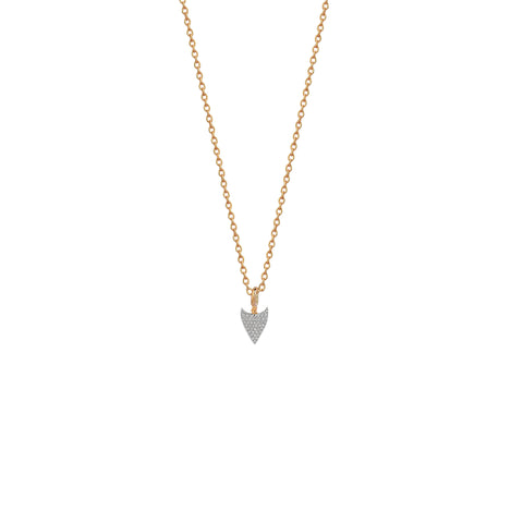 Mini Pave Arrowtip Necklace