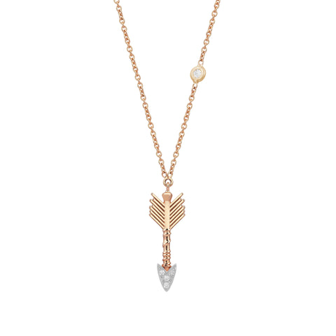 Arrow Solitaire Necklace