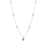 Mini Arrow Chain Necklace - Champagne Diamond