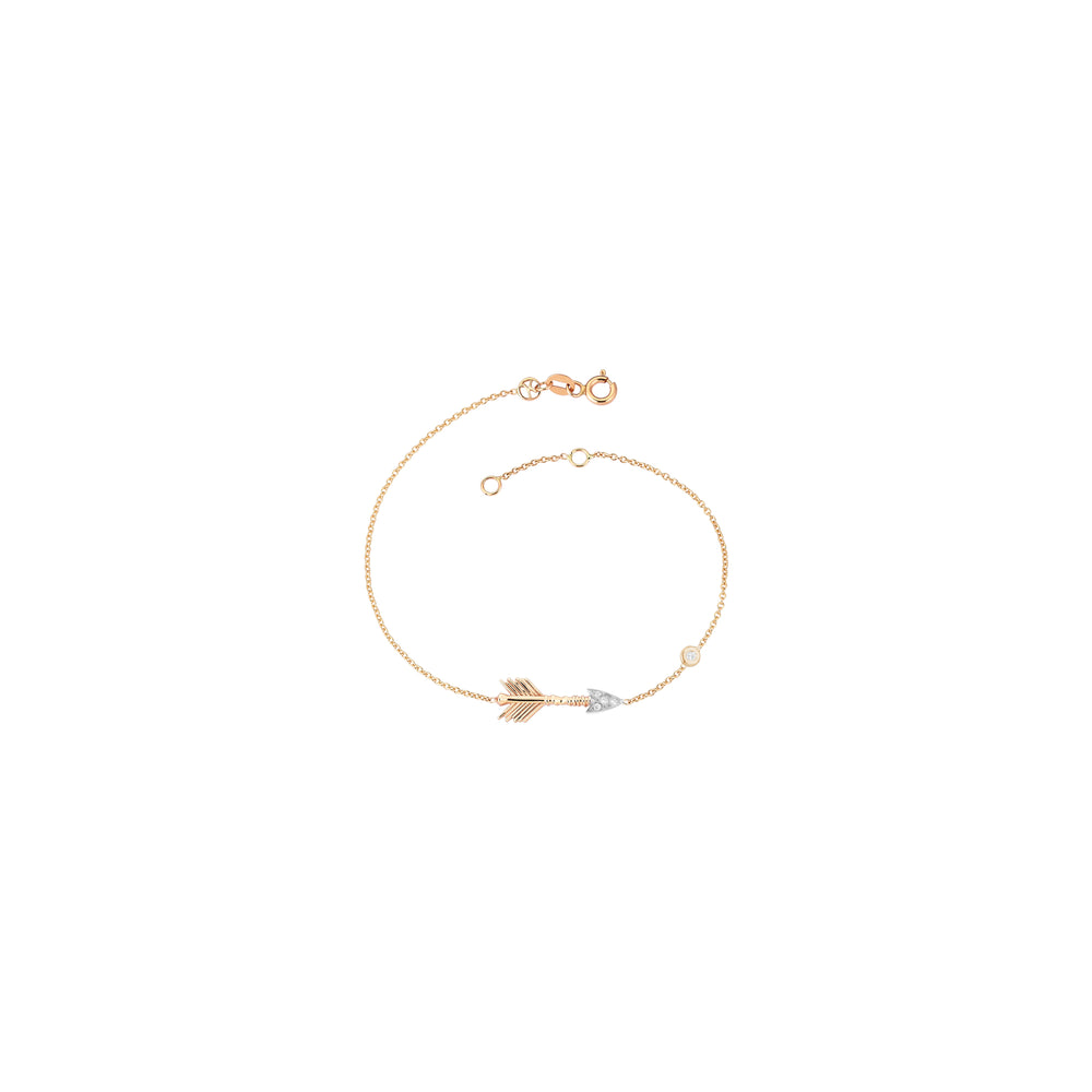 Solitaire Arrow Bracelet - White Diamond