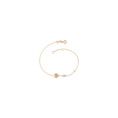 Solitaire Arrow Bracelet