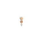 Mini Arrow Stud (Single) - White Diamond