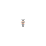 Pave Dart Stud (Single) - White Diamond