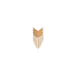 Chevron Fringe Earring (Single) - Gold