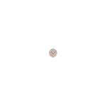 Mini Arrowhead Earring (Single) - White Diamond
