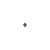 Mini Arrowhead Earring (Single) - Champagne Diamond