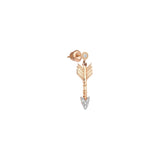 Solitaire Arrow Eardrop (Single) - White Diamond