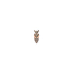 Pave Dart Stud (Single) - Champagne Diamond