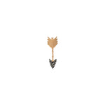 Large Arrow Stud (Single) - Champagne Diamond