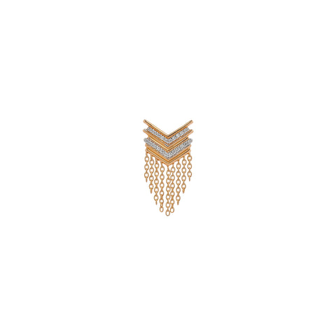 Chevron Fringe Earring (Single)