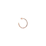 Midi Thick Wire Knit Hoop (Single)
