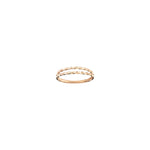 2 Row Twist Ring - Gold