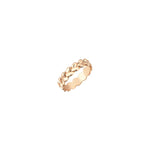 Thick Braided Ring - Gold