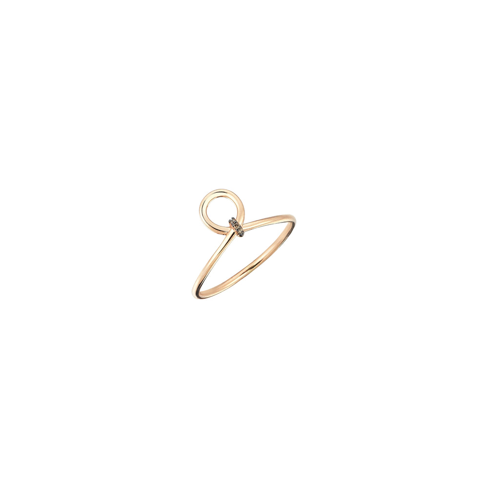 Archer's Knot Ring - Champagne Diamond